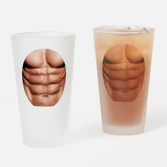 Show My Abs Drinking Glass