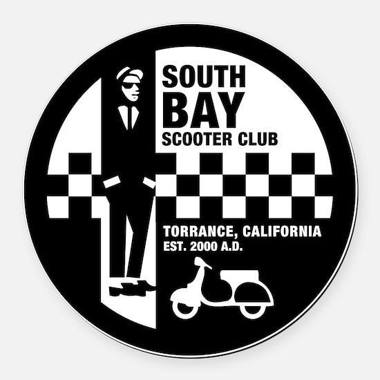 SBSC Ska logo 10in Round Car Magnet