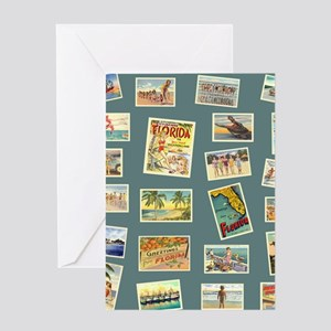Vintage Florida Postcards Greeting Card