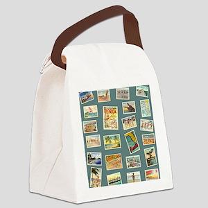 Vintage Florida Postcards Canvas Lunch Bag