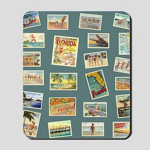 Vintage Florida Postcards Mousepad