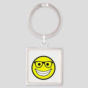 Happy Fosser Square Keychain