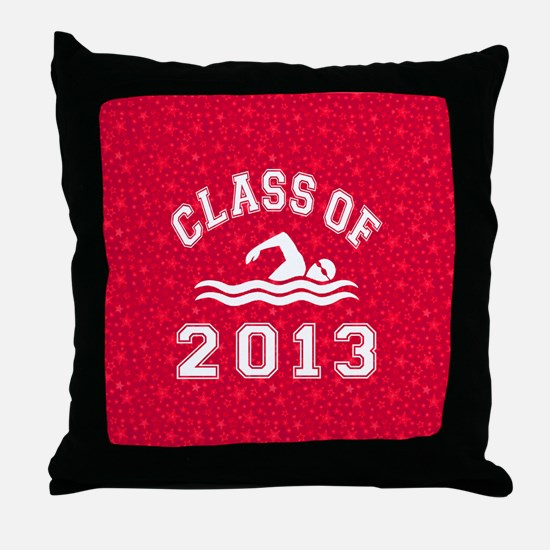 Class Of 2013 Swimming Throw Pillow