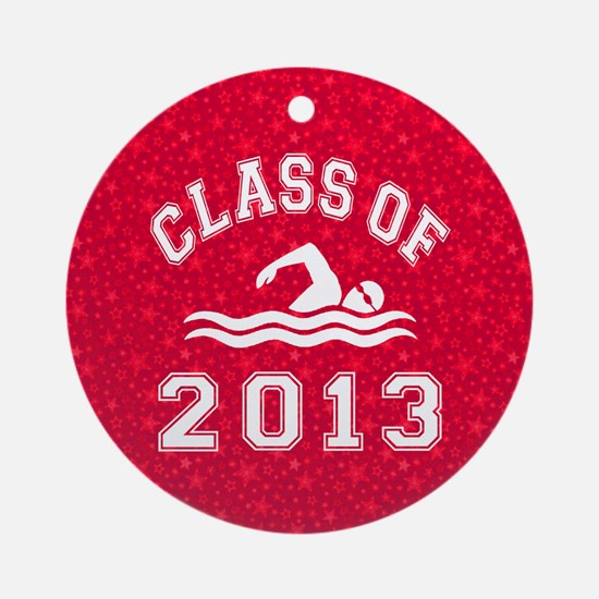 Class Of 2013 Swimming Round Ornament