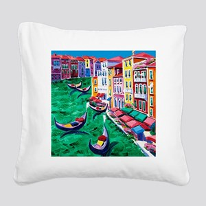 Venice Painting Square Canvas Pillow