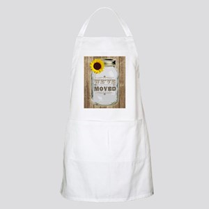 Rustic Change Of Address Mason Jar Sunflower Apron