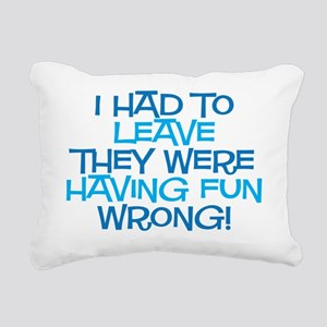 fun wrong Rectangular Canvas Pillow