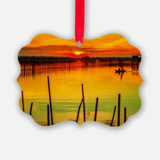 Dawn on the water Ornament