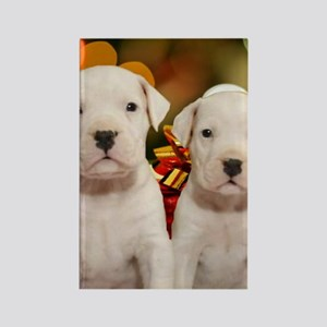 Christmas Dogo Puppies Rectangle Magnet