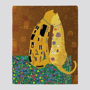 Klimts Kats Throw Blanket