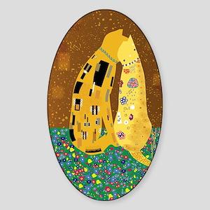 Klimts Kats Sticker (Oval)