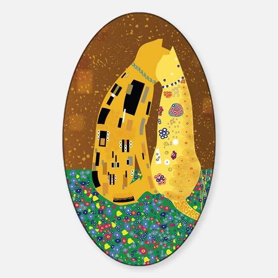 Klimts Kats Sticker (Oval)