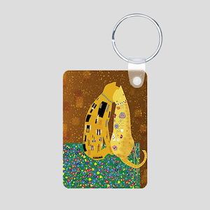 Klimts Kats Aluminum Photo Keychain