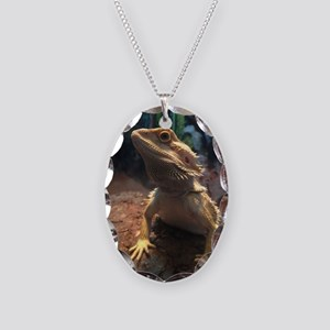 Bearded Dragon Necklace Oval Charm