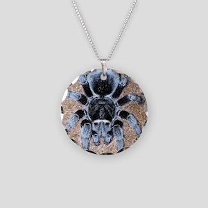 Brazilian Black Tarantula Necklace Circle Charm