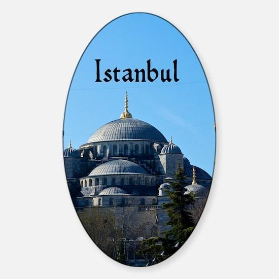 Istanbul_5.5x8.5_Journal_BlueMosque Sticker (Oval)