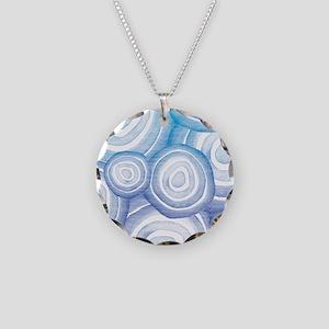 Aqua and Purple Circles Necklace Circle Charm