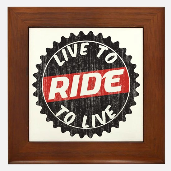 Live to Ride - Ride to Live Framed Tile