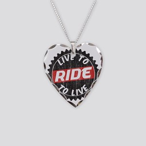 Live to Ride - Ride to Live Necklace Heart Charm