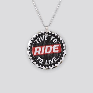 Live to Ride - Ride to Live Necklace Circle Charm