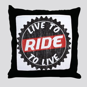 Live to Ride - Ride to Live Throw Pillow