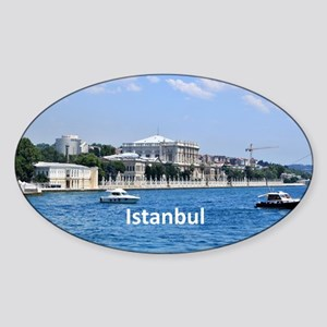 Istanbul_18.8x12.6_Bag_DolmabahcePa Sticker (Oval)