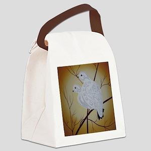 God gave us 1 World, Let's Protec Canvas Lunch Bag