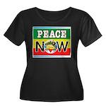 Rasta Peace Now Women's Plus Size Scoop Neck Dark