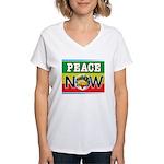 Rasta Peace Now Women's V-Neck T-Shirt