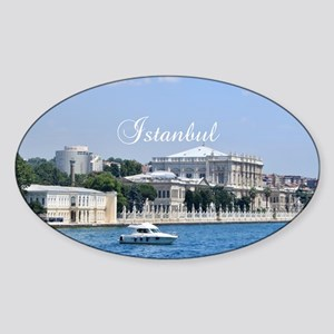 Istanbul_12.2x6.64_Bag_DolmabahcePa Sticker (Oval)