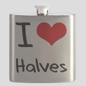 I Love Halves Flask