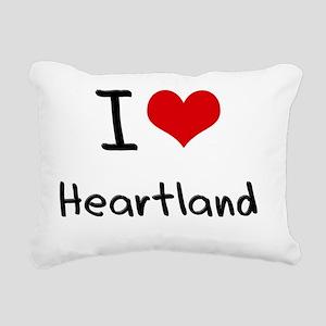 I Love Heartland Rectangular Canvas Pillow