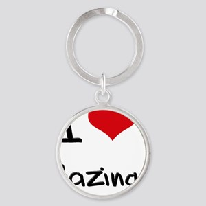 I Love Hazing Round Keychain