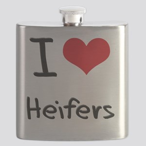 I Love Heifers Flask