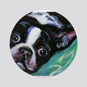 Boston Terrier eyes Ornament (Round)