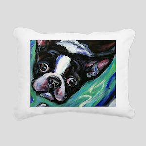 Boston Terrier eyes Rectangular Canvas Pillow