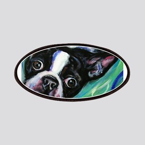 Boston Terrier eyes Patches