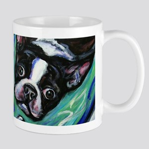 Boston Terrier eyes Mugs