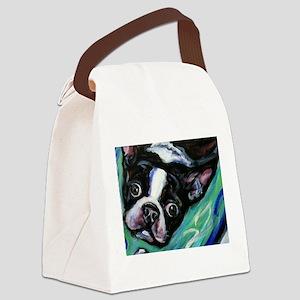 Boston Terrier eyes Canvas Lunch Bag