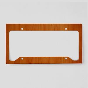 Cherry Wood Grain License Plate Holder
