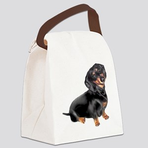 Dachshund-BT - Big2 Canvas Lunch Bag
