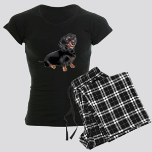 Dachshund-BT - Big2 Women's Dark Pajamas