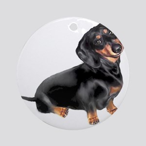 Dachshund-BT - Big2 Round Ornament