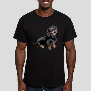 Dachshund-BT - Big2 Men's Fitted T-Shirt (dark)