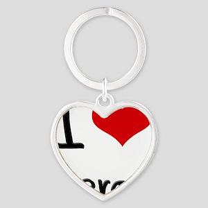 I Love Heros Heart Keychain