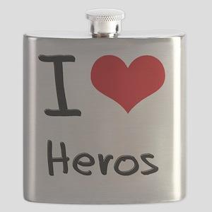 I Love Heros Flask