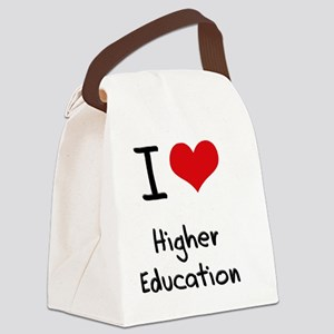 I Love Higher Education Canvas Lunch Bag