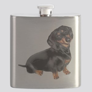 Black-Tan Dachshund  Flask
