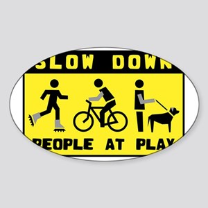 People At Play Sticker (Oval)
