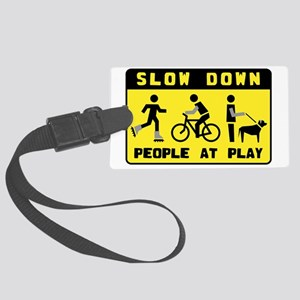 People At Play Large Luggage Tag